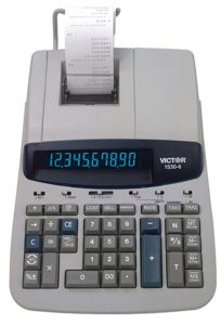 Victor 1530-6 10 Digit Professional Grade Heavy Duty Commercial Printing Calculator