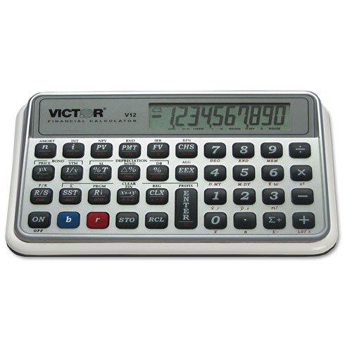 Victor V12 Financial Calculator, 10-Digit LCD