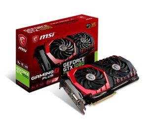 MSI Gaming GeForce GTX 1080 GAMING X+ 8G GDDR5X SLI DirectX 12 VR Ready Graphics Card