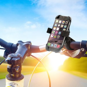 Aduro U-Grip Plus Universal Bike Mount - for Motorcycle, Handlebar, Roll Bar, iPhone X 7 6 6s 7 Plus 5 5s 5c Bike Mount for all Android Smartphones, and GPS Holder
