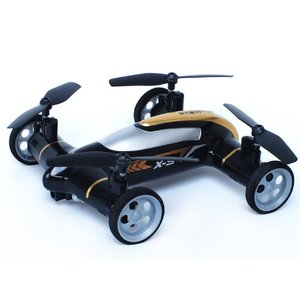 Babrit X9 Flying Cars Quadcopter Car Remote Control Car and RC Quadcopter Remote Control Drone Flying Vehicles Black