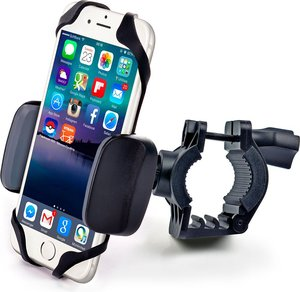 Bike & Motorcycle Cell Phone Mount - For iPhone 6 (5, 6s Plus), Samsung Galaxy Note or any Smartphone & GPS - Universal Mountain & Road Bicycle Handlebar Cradle Holder. +100 to Safeness & Comfort