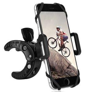 Bike Phone Mount Fineed Bicycle Handlebar & Motorcycle Holder for Iphone 7 6S 6 Plus 6 5S 5 Samsung Galaxy S7 S6 S5 Edge Nexus 5X 6P LG G4 G5 Black