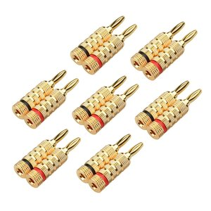 Cable Matters (7 Pairs) Crimp & Twist Closed Screw Banana Plugs for Speaker Wire