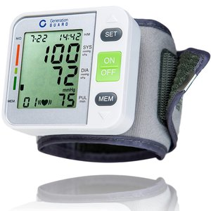 Clinical Automatic Blood Pressure Monitor FDA Approved by Generation Guard with Large Screen Display Portable Case Irregular Heartbeat BP and Adjustable Wrist