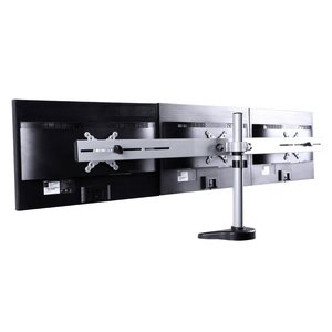 FLEXIMOUNTS Full Motion Triple Arms Desk Mount LCD Stand for MSI Dell Asus Acer Samsung Monitor(M15)