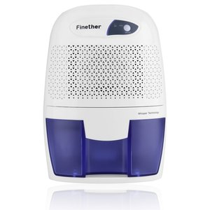 Finether Powerful 500ML Mini Portable Best Quiet Air Dehumidifier Small Dehumidifier Efficient and Stable for Small Rooms,Bath Room,Basement,Home,Bedroom