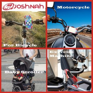 JoshNAh Bike Phone Mount , Universal Cell Phone Holder for Bicycle Handlebars , fits Iphone X , 8 , 7 , 7s , 6 , 6s plus , Galaxy s7 edge , 8 , s9 , s6 for Motorcycle & Bike Accessories