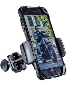 Motorcycle Phone Mount - DOGO 100 Cruiser - Universal Handlebar Smartphone Holder for Street Bike, Dirt Bike, Road Bike, Mountain Bike - Fits Any Cellphone iPhone, Android, Galaxy, LG, HTC