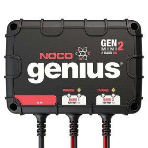 NOCO Genius GENM2 8 Amp 2-Bank Waterproof Smart On-Board Battery Charger