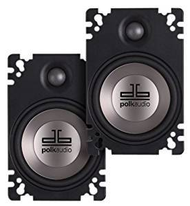 Polk Audio DB461P 4x6-Inch Coaxial Plate-Style Speakers (Pair, Black)