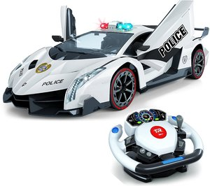 Remote Control Police Car, 4D Motion Gravity and Steering Wheel Control,