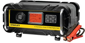STANLEY BC25BS 25 Amp Bench Battery Charger with 75 Amp