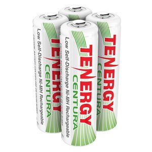 Tenergy Centura AA Low Self-Discharge LSD NiMH Rechargeable Batteries, 1 Card 4xAA