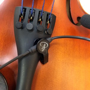 VIOLIN PICKUP with FLEXIBLE MICRO-GOOSE NECK by Myers Pickups