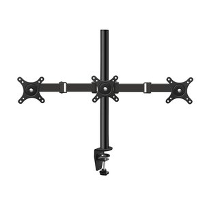 Vemount Articulating Tilt Swivel Triple 3 Arm Desk Monitor Mount Stand for 14 15 17 19 20 22 23 24 27 inch LCD LED Computer PC Gaming Screen, Up to 66 lbs, Vesa 50 75 100 mm, Safe C-Clamp