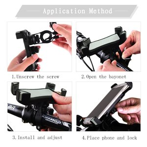 Wsky Bike Mount - Universal Bicycle & Motorcycle Handlebar for IPhone Android Smartphones, GPS,Anti-Slip Silicone Pad,Anti-Shake Four Corner Buckle,Thickened Rubber,360 Degrees Rotatable