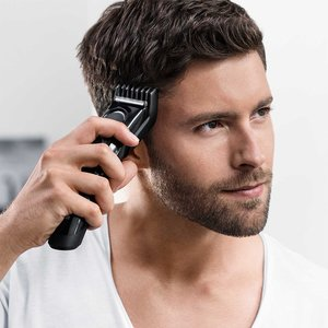 Braun HC5090 Hair Clipper and Trimmer for Men, Cordless & Rechargeable Electric Cutting Machine for Facial Hair