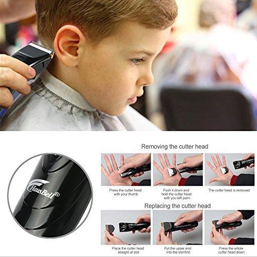 Hausbell R2 Professional Cordless Hair Clippers Haircut Kit (Black)