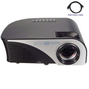 Video Projector,Dihome 1200 Lumens HD Projector with free HDMI Cables Multimedia Home Theater Projector USB/AV/SD/HDMI/VGA -Black