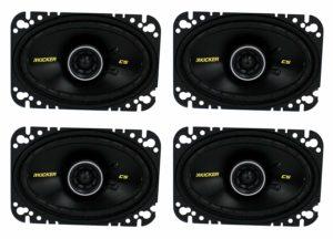 "4) New Kicker 40CS464 4x6"" 300W 2 Way Car Coaxial Speakers Stereo Audio CS464"