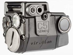 Viridian C5L Universal Green Laser Sight and Tac Light for Sub-Compact Handgun Pistols, ECR Instant On Technology